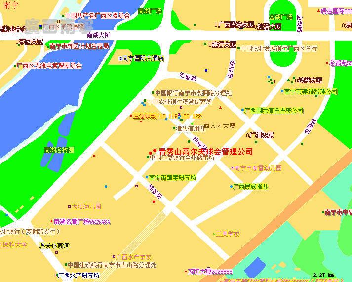 广西省南宁市青秀山风景区路线:1