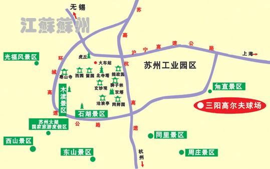 苏州甪直河道手绘地图