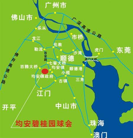 顺德中山地图全图